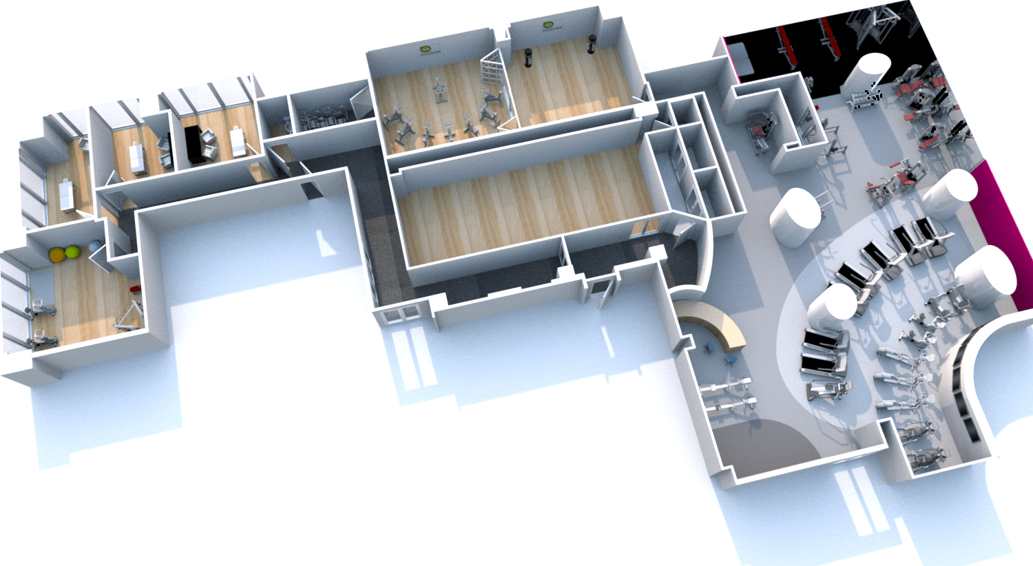 Our 3d gym design rendering service m8group for Gym designs and layout