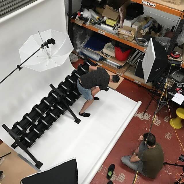 Shoot day! The new @erimusfitness equipment is looking good, guys… #gym #newbrand #photoshoot