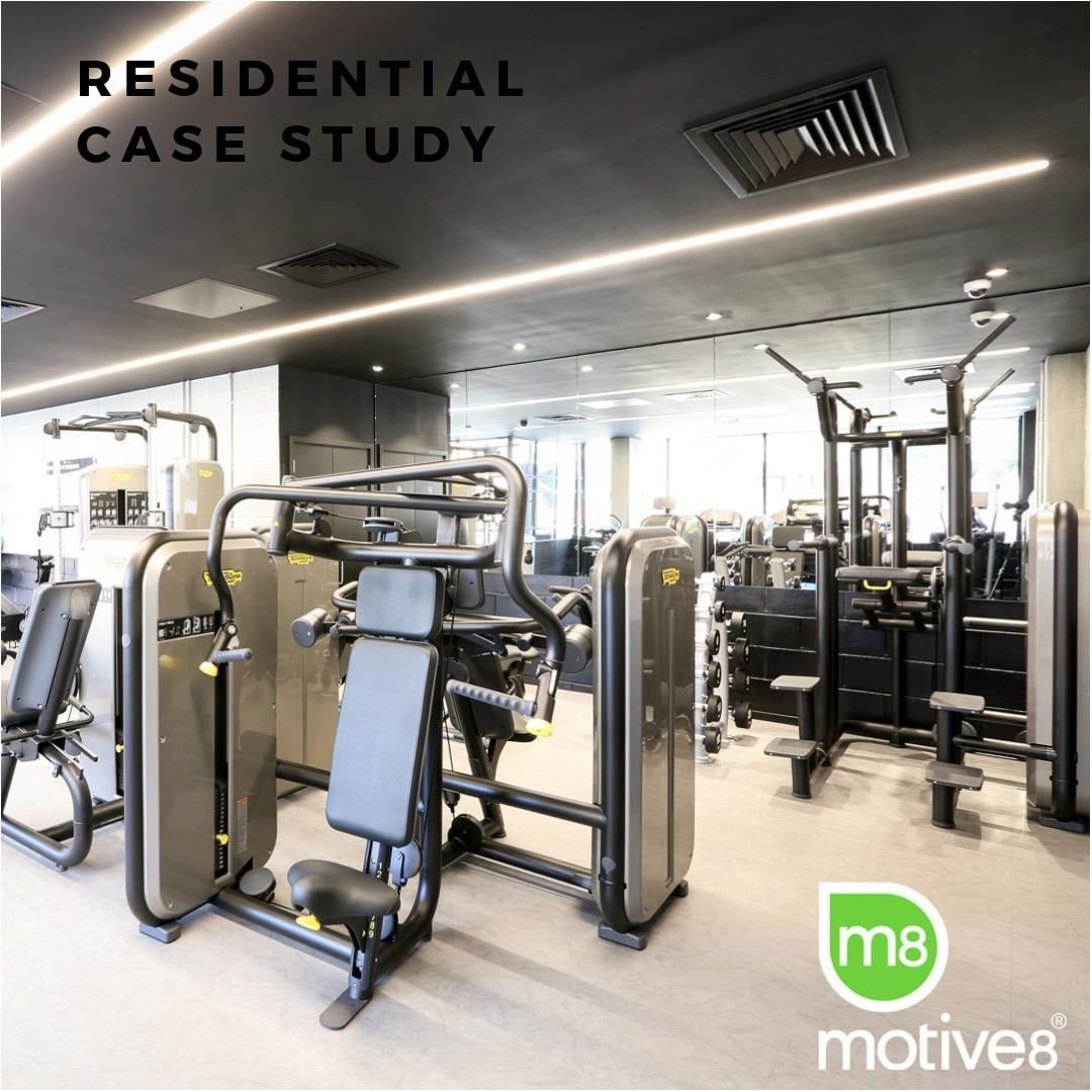 We created this temporary gym for Aberfeldy Village, a London-based residential project for developer @ecoworldgroup. It will eventually be opened up into a larger space as the scheme moves through completion and more residents move in. Read more over on the website at m8group.co.uk/case-study/aberfeldy-village/ . . . #temporarygym #residentialgym #gymdesign #gymathome #greatdesign #casestudy