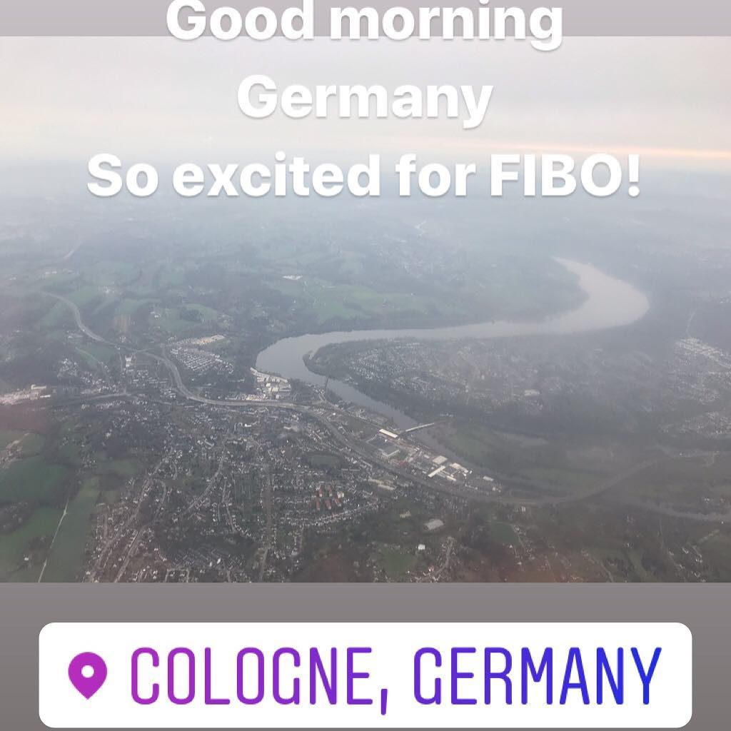 Landed and en route to FIBO! @fiboofficial #fibo #fitfam #fitness