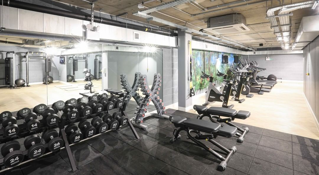 Located in Hackney, Fish Island Village is our newest development. Our brief was to design and install a brand new gym – bringing fitness and community together. We partnered up with @technogym and Erimus to give the residential apartments a state-of-the-art gym. Want to know more? Link in the bio! . . . #gymdesign #motive8 #gym #gymequipment #wellness #fitness