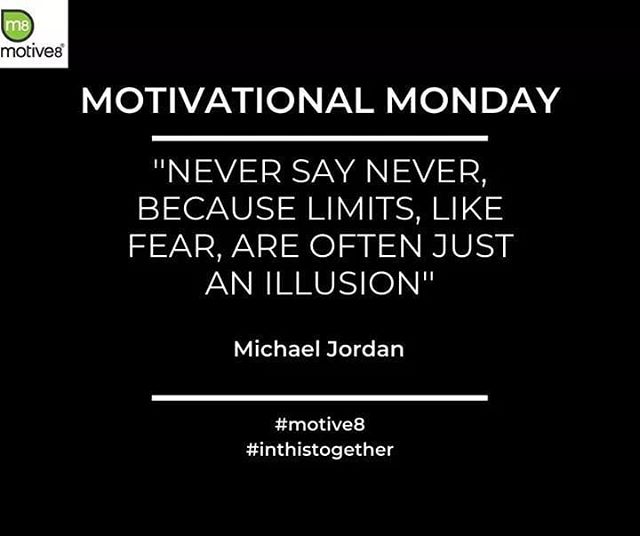 We're loving this quote from the legendary Michael Jordan. Find out what you can achieve when you don't set yourself any limits! #believeinyourself #nolimits #motivation #motivationalquotes #motivationalmonday #fitnessmotivation #workoutmotivation #inspiration